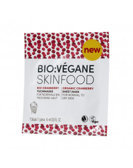 Bio Vegane Organic Cranberry Sheet Mask - Normal to dry skin